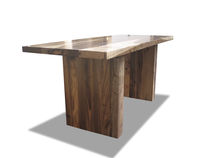 contemporary extending solid wood table Andre Table Costantini Design