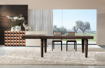 contemporary extending solid wood table MERLINO Besana