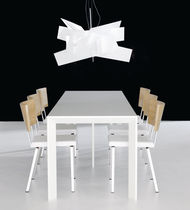 contemporary extending solid wood table CHAMFER by D.Franzén & M.Ståhlbom KARL ANDERSSON