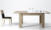 contemporary extending solid wood table GROOVE  Animovel