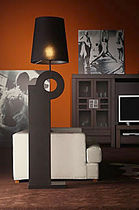 contemporary fabric floor lamp CHILLIDA  COIM