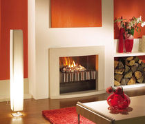 contemporary fireplace (gas closed hearth) PLATONIC SHELF Platonic Fireplace