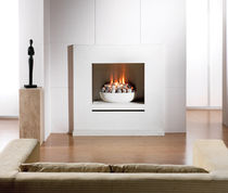 contemporary fireplace (gas closed hearth) PALLADIO Platonic Fireplace