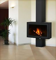 contemporary fireplace (wood-burning closed hearth) GALICIA FLAM N' CO