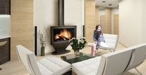 contemporary fireplace (wood-burning closed hearth) PANAMA FLAM N' CO