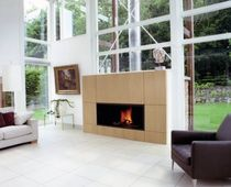 contemporary fireplace (wood-burning closed hearth) AR 004 BLOCH DESIGN