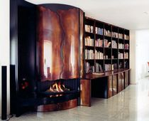 contemporary fireplace (wood-burning closed hearth) AR 005 BLOCH DESIGN