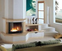 contemporary fireplace (wood-burning closed hearth) IRIS Amiata Caminetti