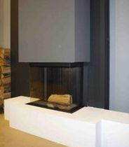 contemporary fireplace (wood-burning closed hearth , retractable door) 800DC m-design