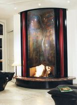 contemporary fireplace (wood-burning open hearth) CM 002 BLOCH DESIGN