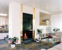 contemporary fireplace (wood-burning open hearth) CV 002 BLOCH DESIGN