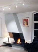 contemporary fireplace (wood-burning open hearth) CV 005 BLOCH DESIGN
