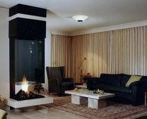 contemporary fireplace (wood-burning open hearth) CV 006 BLOCH DESIGN