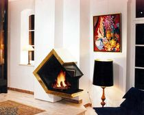 contemporary fireplace (wood-burning open hearth) CV 014 BLOCH DESIGN