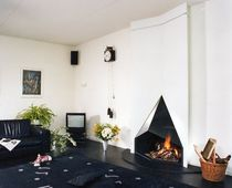 contemporary fireplace (wood-burning open hearth) CV 018 BLOCH DESIGN