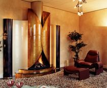 contemporary fireplace (wood-burning open hearth) CM 007 BLOCH DESIGN
