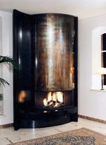 contemporary fireplace (wood-burning open hearth) CM 010 BLOCH DESIGN