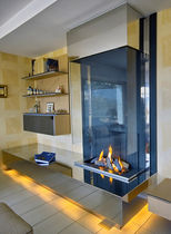 contemporary fireplace (wood-burning open hearth) CM 008 BLOCH DESIGN