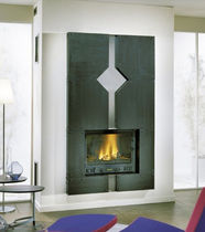 contemporary fireplace (gas closed hearth) DAINVILLE CHEMINEES PHILIPPE