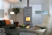 contemporary fireplace (wood-burning closed hearth) LISA 3 NunnaUuni