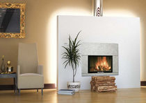 contemporary fireplace (wood-burning closed hearth) ANTHARES italiakalor