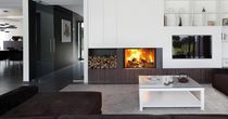 contemporary fireplace (wood-burning closed hearth , retractable door) PHENIX 95 GREEN BODART & GONAY