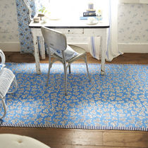 contemporary floral patterned rug MEADLOW LEAF COBALT DESIGNERS GUILD