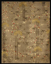 contemporary floral patterned rug (handmade) CONTEMPORARY : TIBETAN W&amp;S Rugs of India
