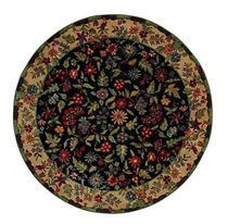 contemporary floral patterned rug (round) NATURA BASSET
