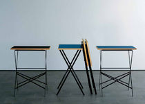 contemporary folding table by Willy Boesiger  Lehni