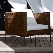 contemporary garden armchair by Antonio Citterio CHARLES OUTDOOR B&B Italia