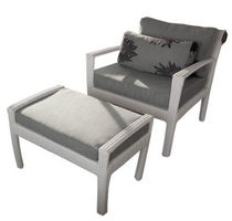 contemporary garden armchair with footstool TF 0813 Nature Corners Co.,Ltd.
