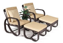 contemporary garden armchair with footstool TF 0956 Nature Corners Co.,Ltd.