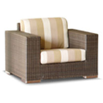 contemporary garden armchair in resin wicker BRANDO SKY LINE DESIGN