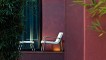 contemporary garden armchair with footstool TIME OUT by Rodolfo Dordoni      SERRALUNGA