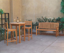 contemporary garden bar chair (teak)  Outdoor Comforts