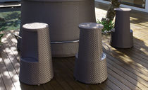 contemporary garden bar stool LAUREL SKY LINE DESIGN