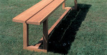 contemporary garden bench in certified wood (FSC-certified) BAILEY by Peter Lowe BENCHMARK