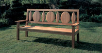 contemporary garden bench in certified wood (FSC-certified) BROADLEAF by Terence Conran BENCHMARK