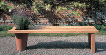contemporary garden bench in certified wood (FSC-certified) BLOOMING by Tom Hatfield BENCHMARK