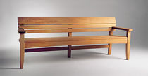 contemporary garden bench in certified wood (FSC-certified) CHICO by Wales and Wales BENCHMARK