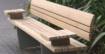 contemporary garden bench in certified wood (FSC-certified) NORFOLK by Wales and Wales BENCHMARK