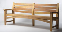 contemporary garden bench in certified wood (FSC-certified) HARPO by Wales & Wales BENCHMARK