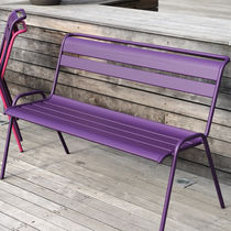 contemporary garden bench (with backrest) MONCEAU FERMOB