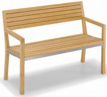 contemporary garden bench (with backrest) TOLDA : ART. 965 TEAK PARK LINE