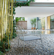 contemporary garden chair (metal) RÉSILLE by Philippe Nigro Ligne Roset France