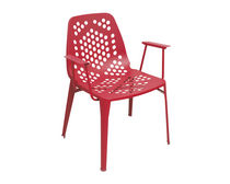contemporary garden chair with armrests (metal) PATTERN by Arik Levy EMU