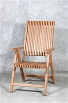 contemporary garden chair with armrests (teak) VICIO BSM