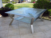 contemporary garden coffee table  pure inox