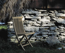 contemporary garden folding chair VIKEN by Gunilla Norin BERGA FORM